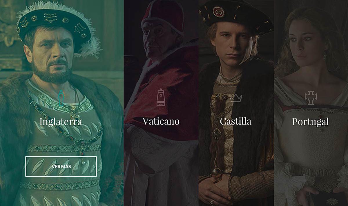 Mapa de Personajes de Carlos V