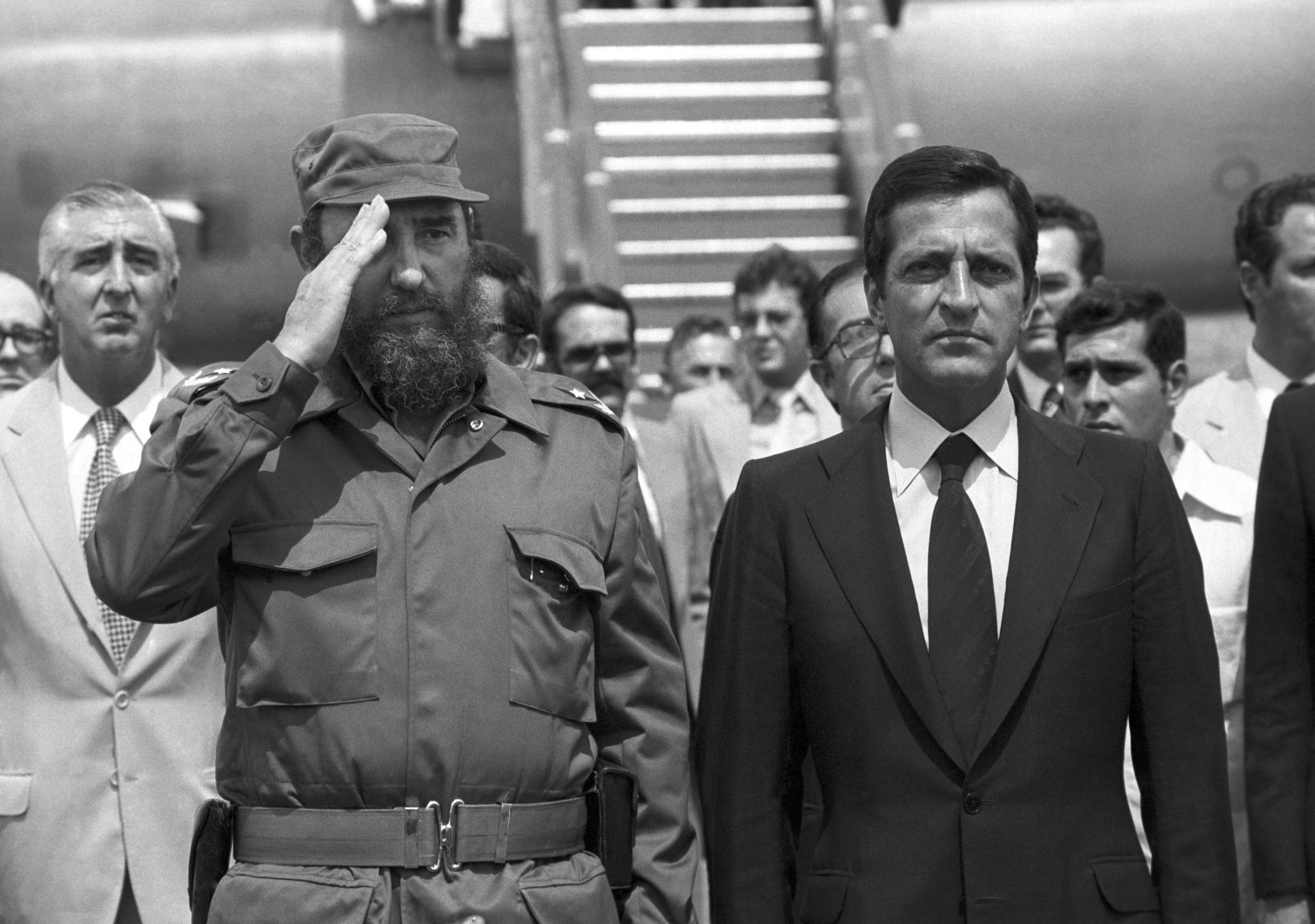 Afolfo Suárez visitó Cuba en 1978
