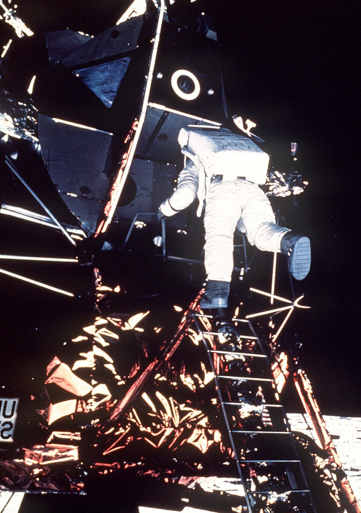 Armstrong, Michael Collins y Aldrin