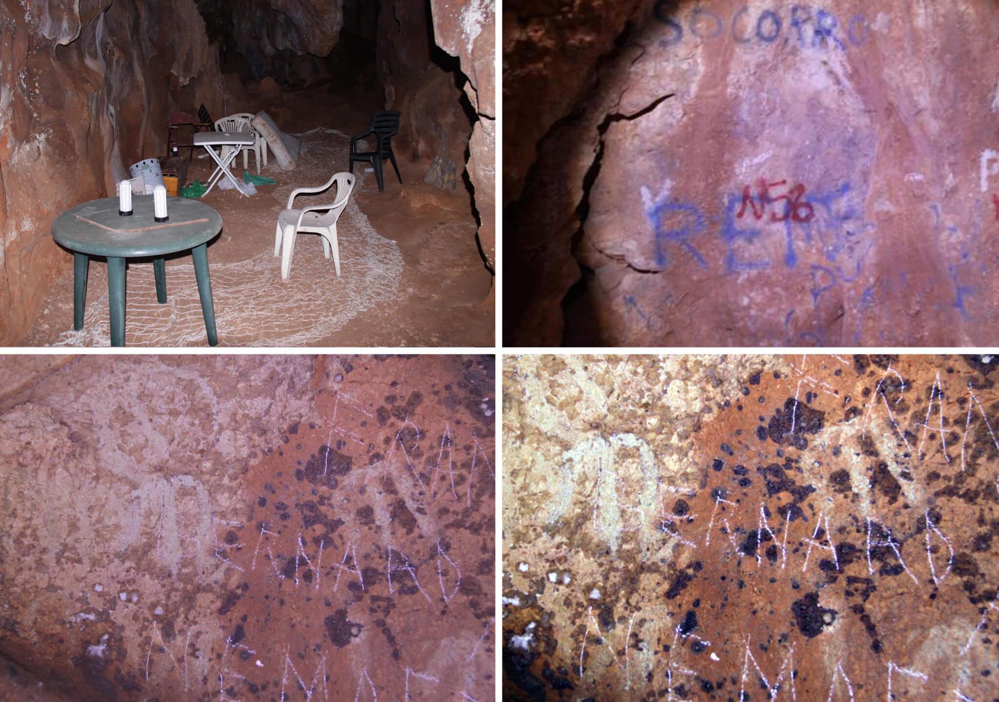 El botellón entre pinturas rupestres