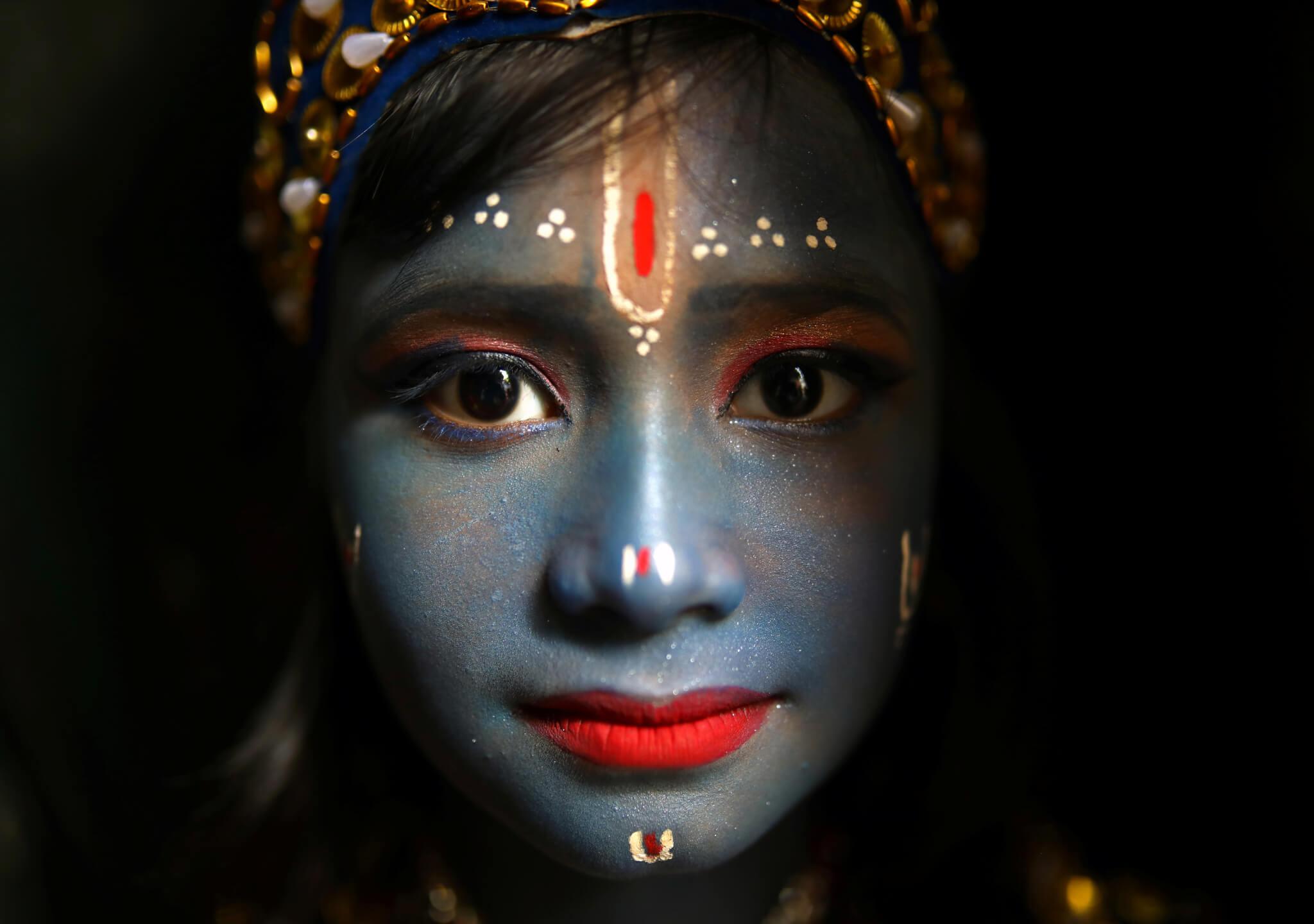 El cumpleaños de una deidad hindú