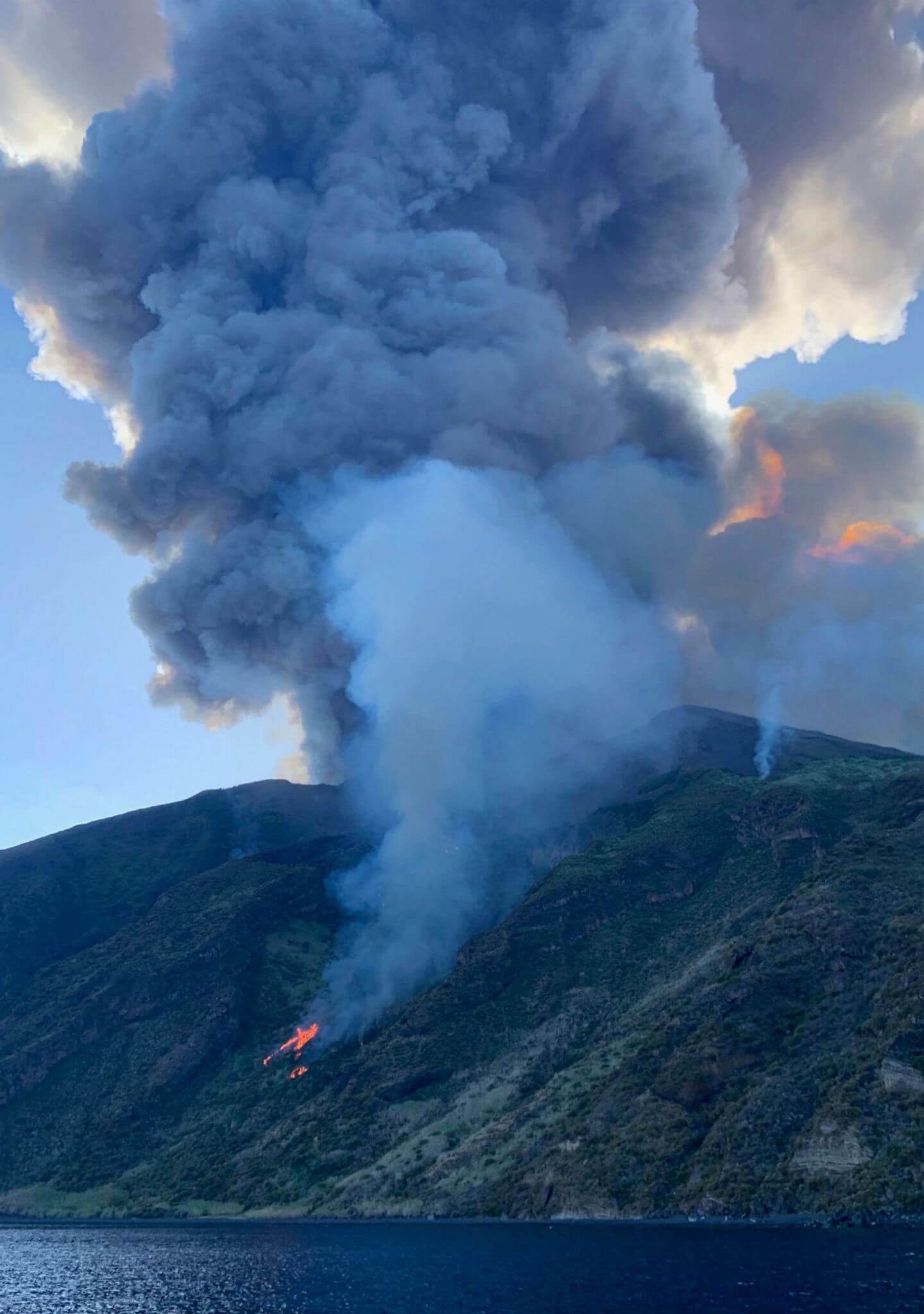 El volcán Stromboli