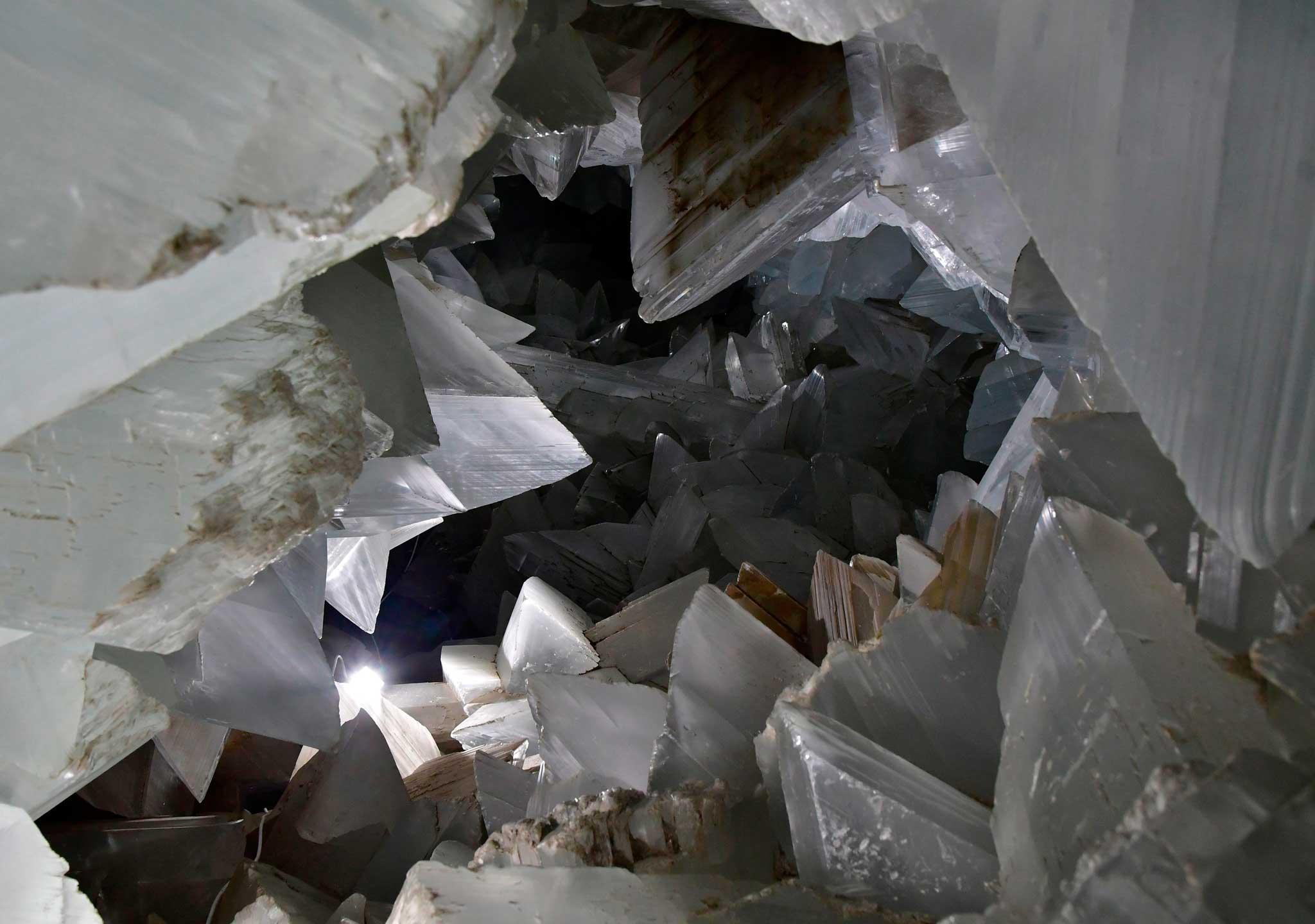 En el interior de una mina