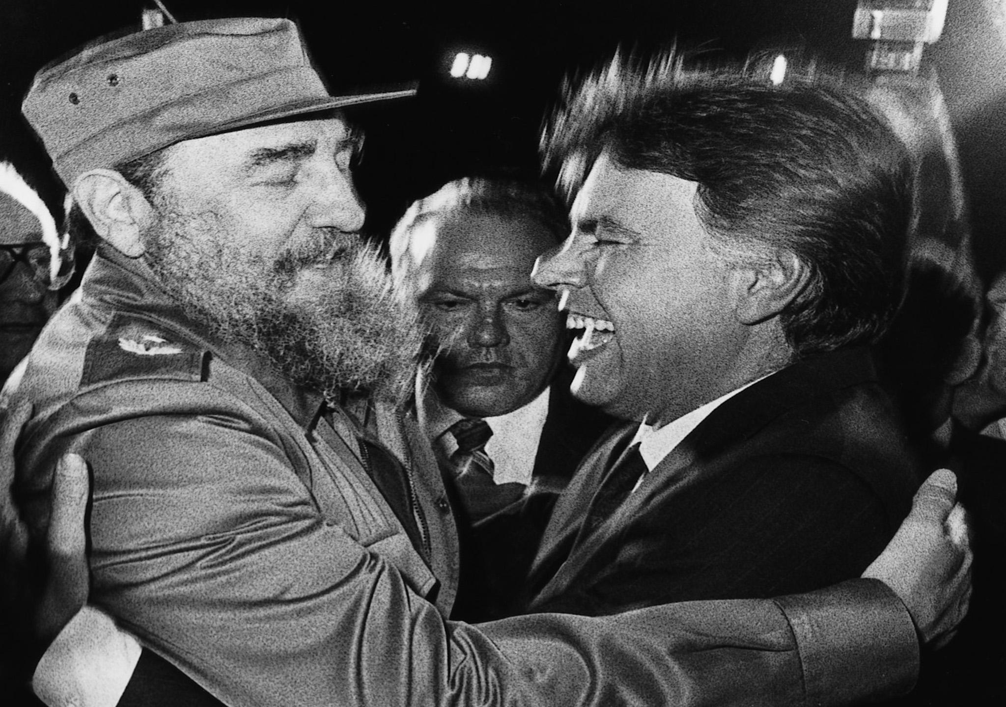 Felipe y Fidel, cordialidad y buenos momentos