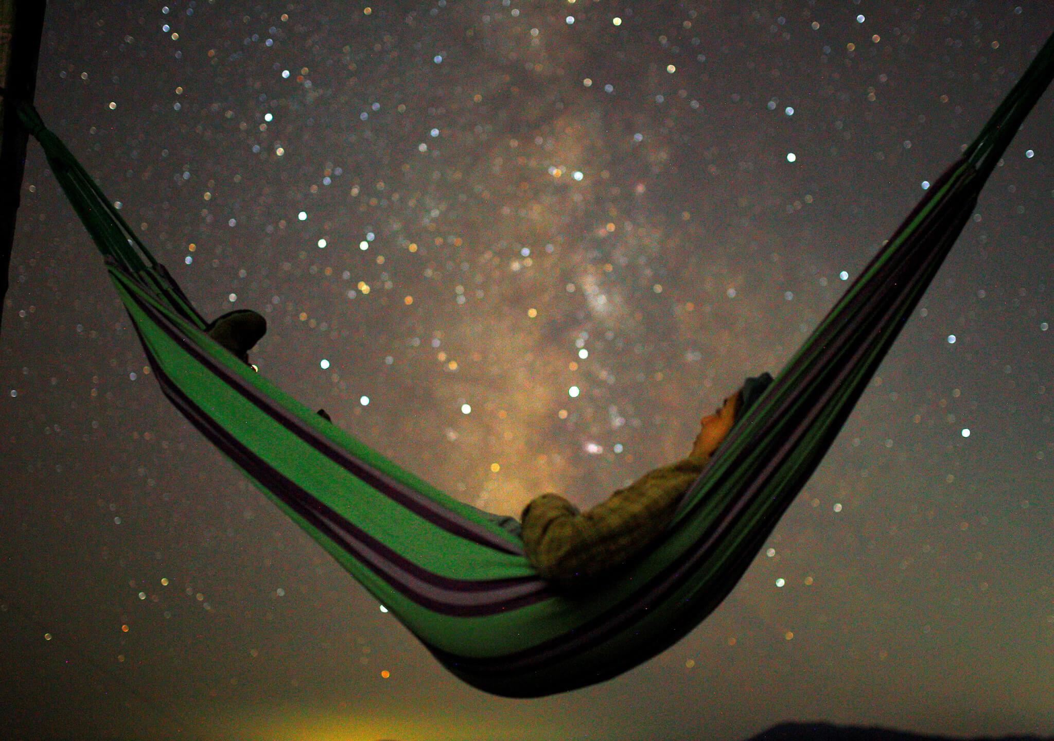 La calma de un cielo estrellado