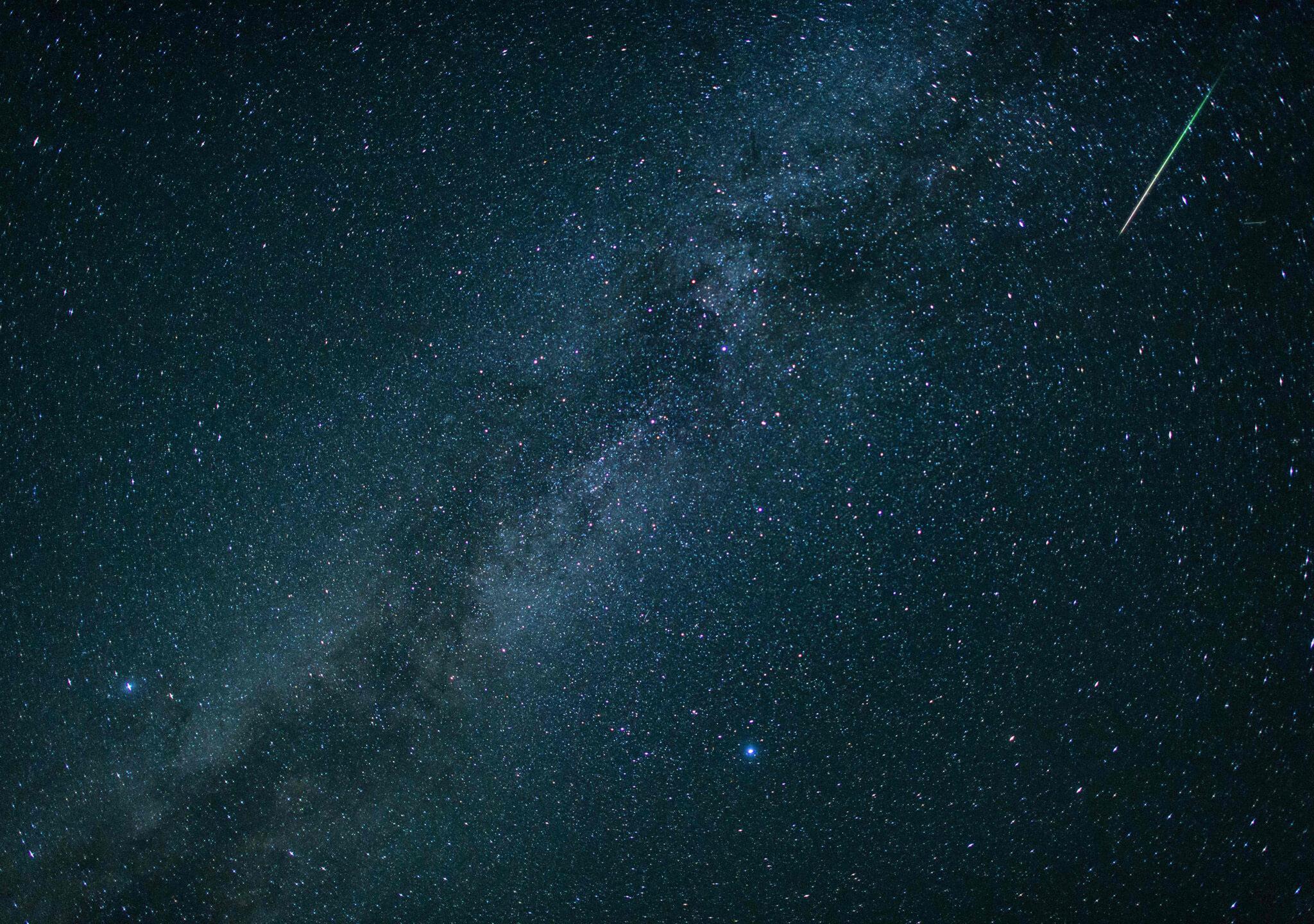 La Luna nueva se alía con los meteoros