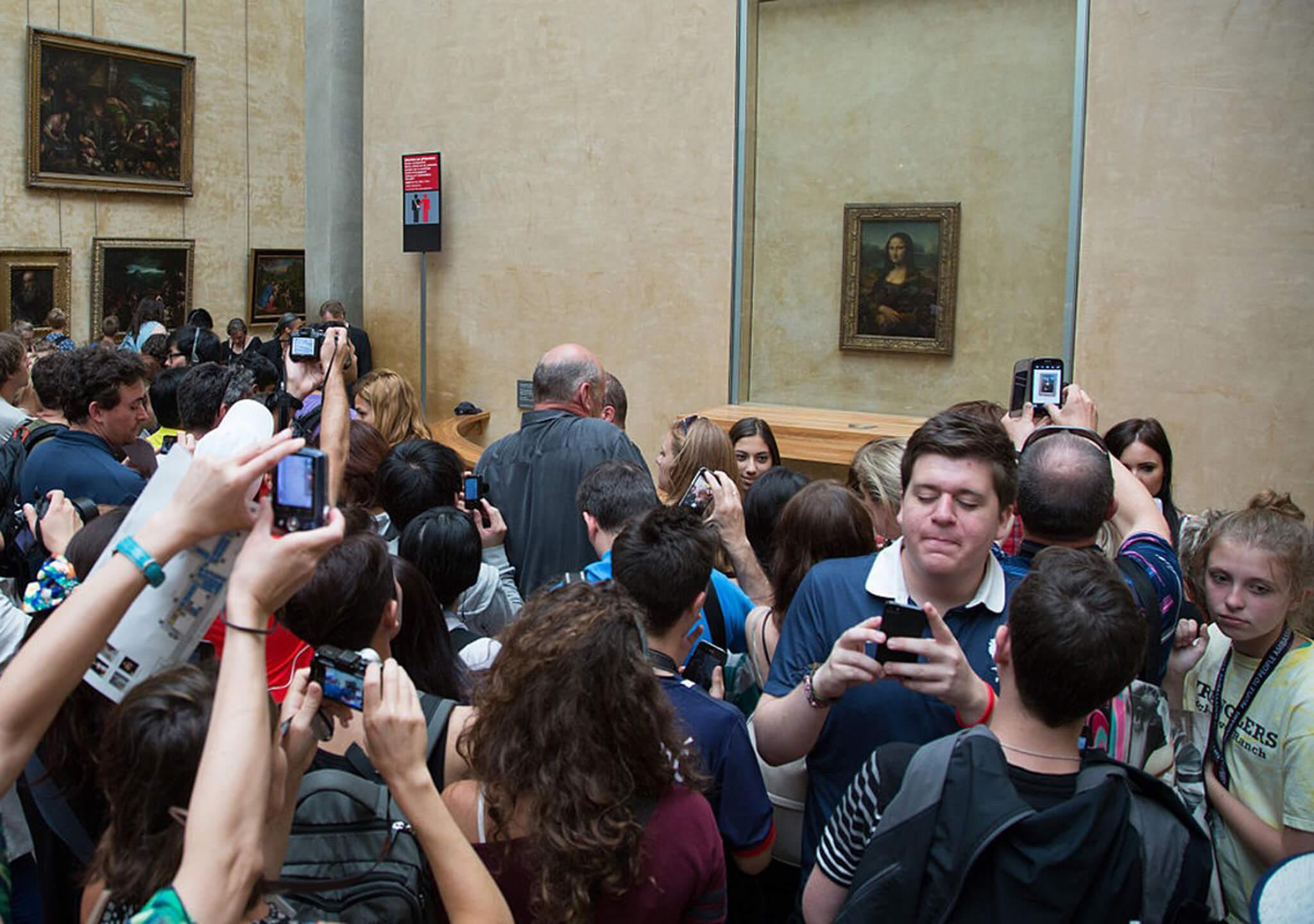 La taza lanzada a la Mona Lisa