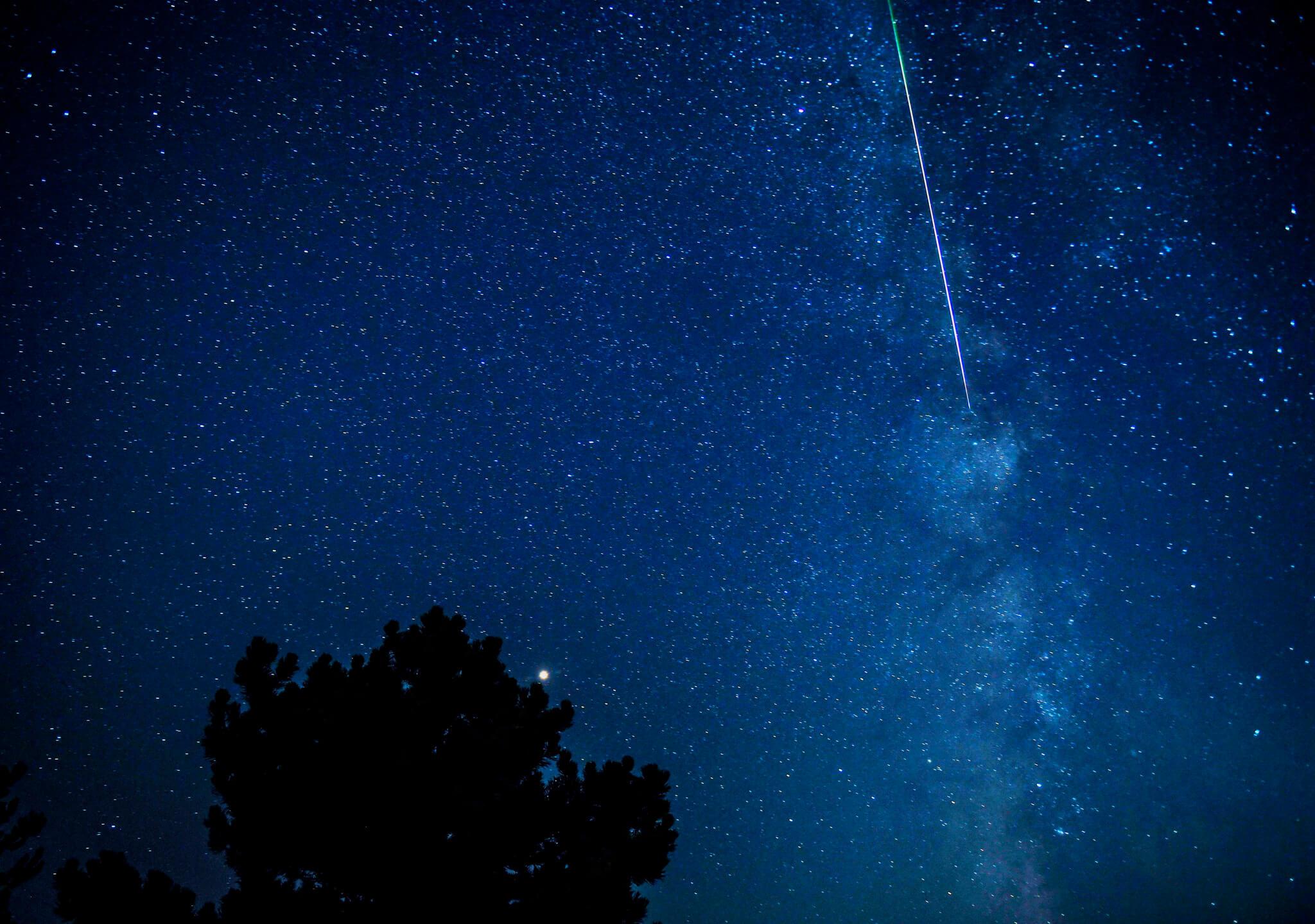 Lluvia de estrellas en agosto
