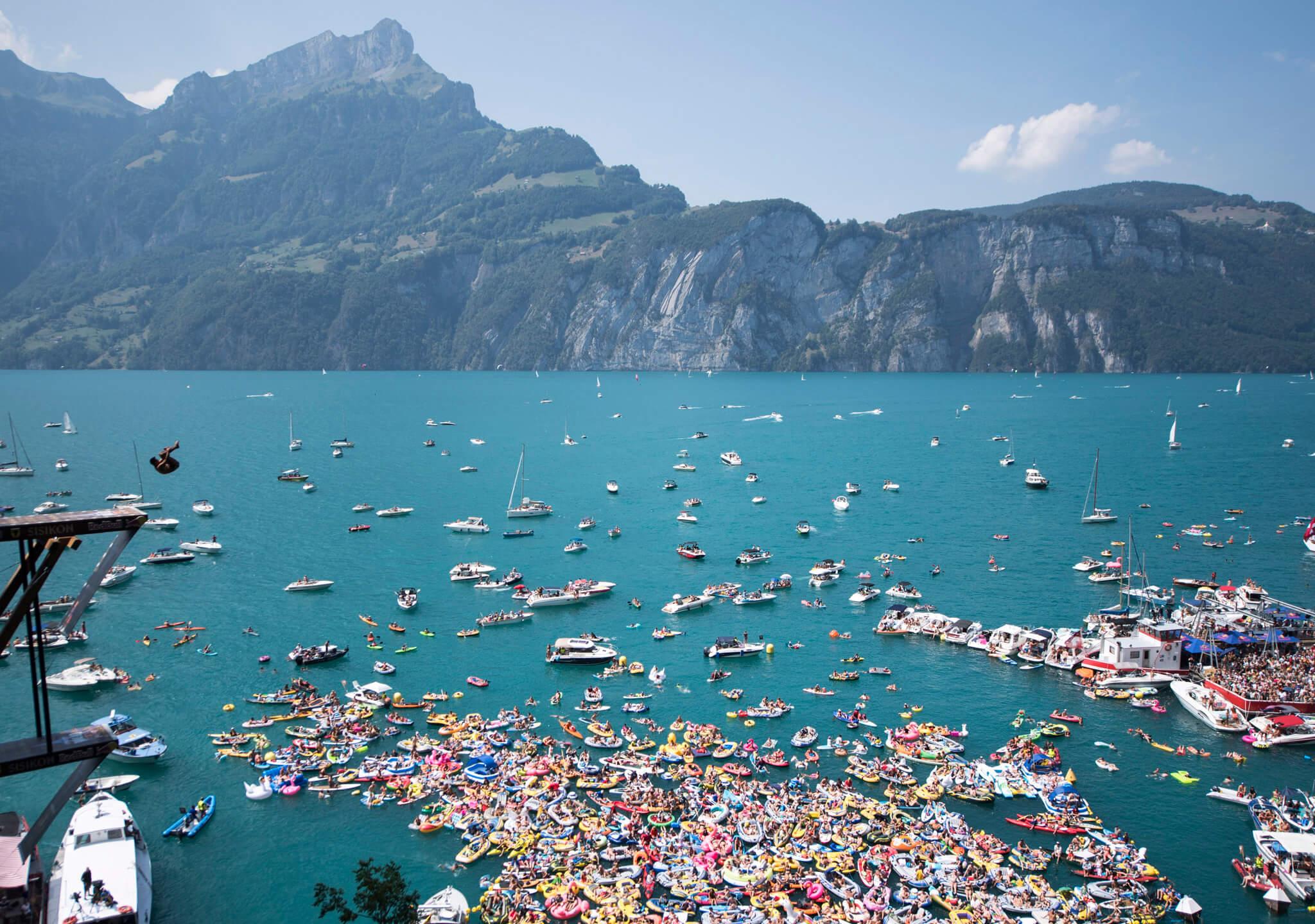 Piruetas sobre el lago Lucerna