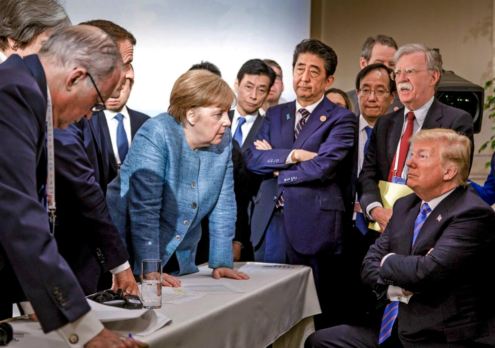 Tensión en la cumbre del G-7