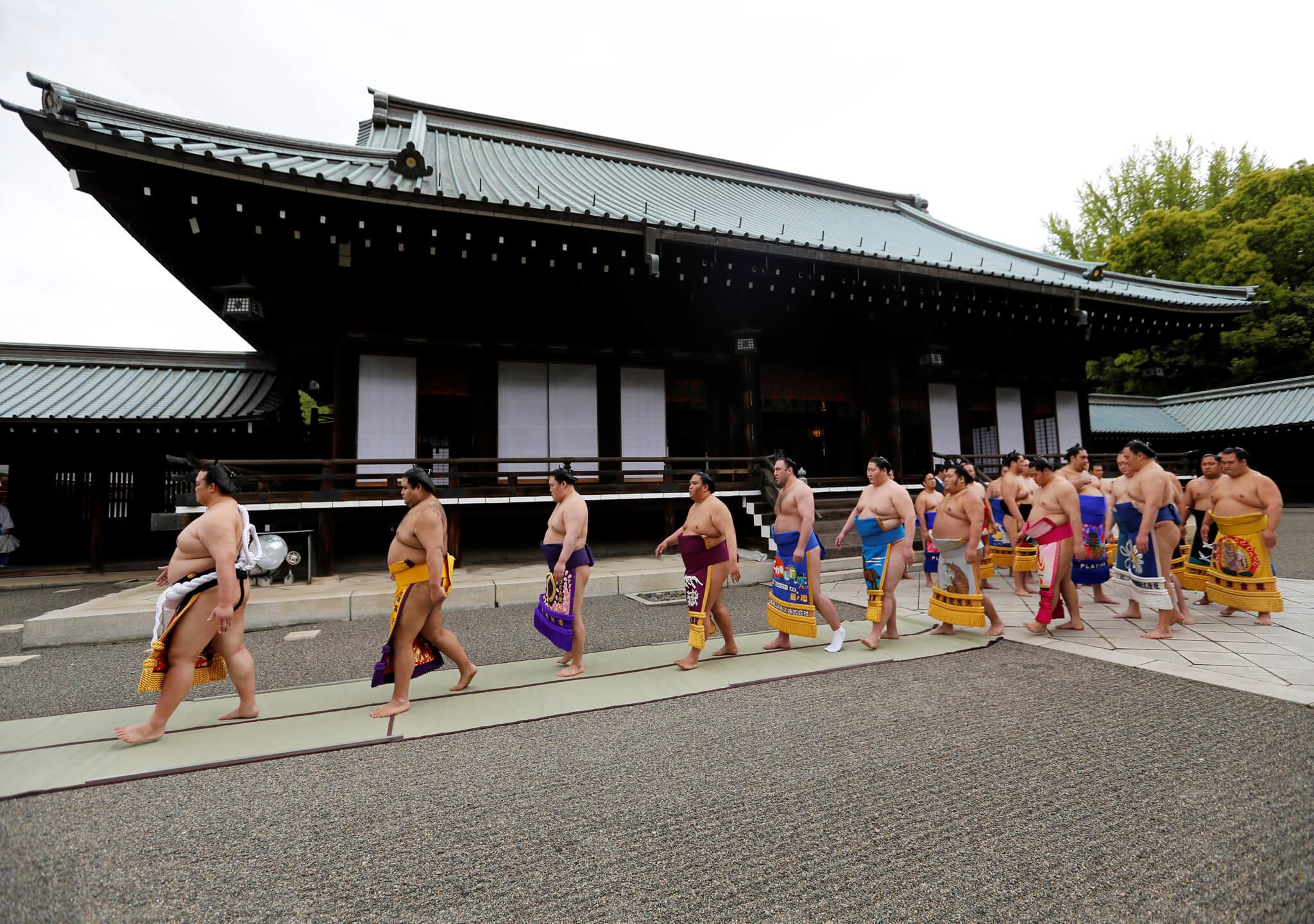 Un torneo de sumo muy tradicional