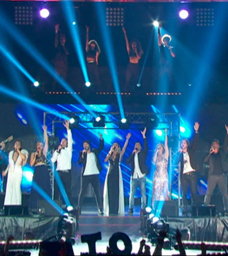 Los ex concursantes cantan 'Mi música es tu voz'