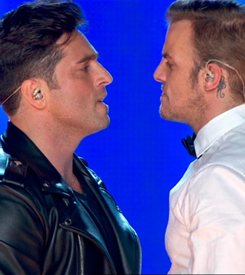 David Bustamante y Álex cantan 'Dos hombres y un destino'