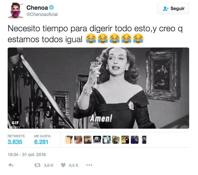 Chenoa bromea en las redes tras su actuación con Bisbal en el Concierto de OT, el reencuentro