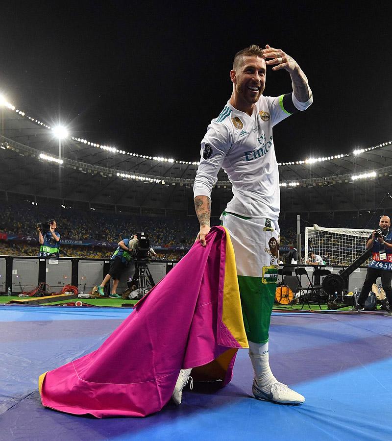 Sergio Ramos levantó la decimotercera en Kiev.