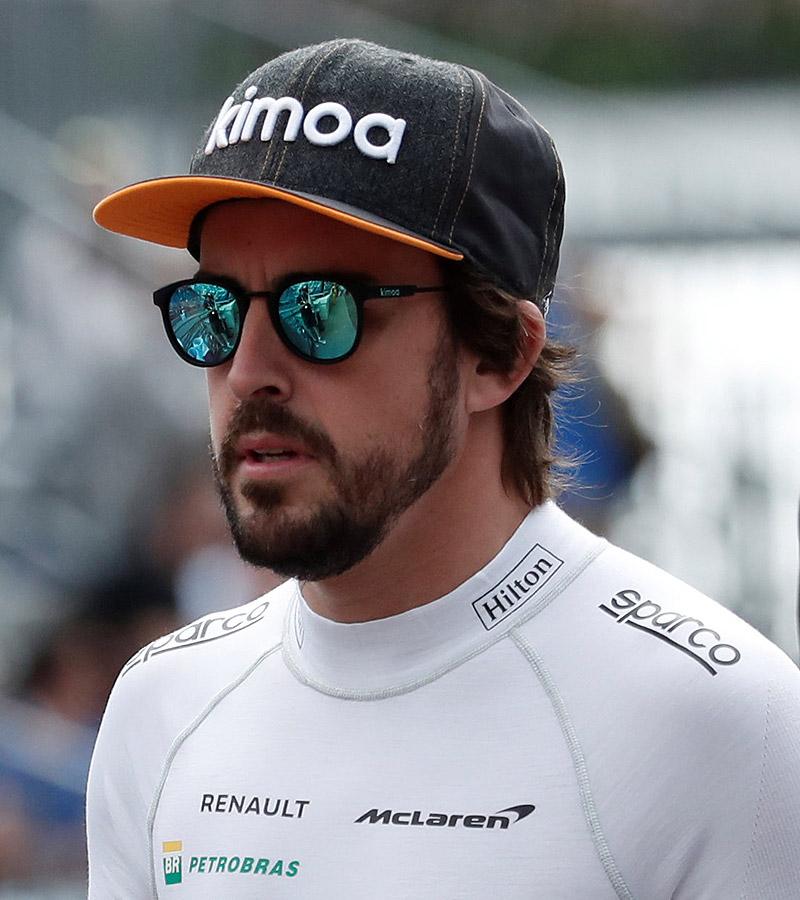 El piloto Fernando Alonso no quiso perderse la final.