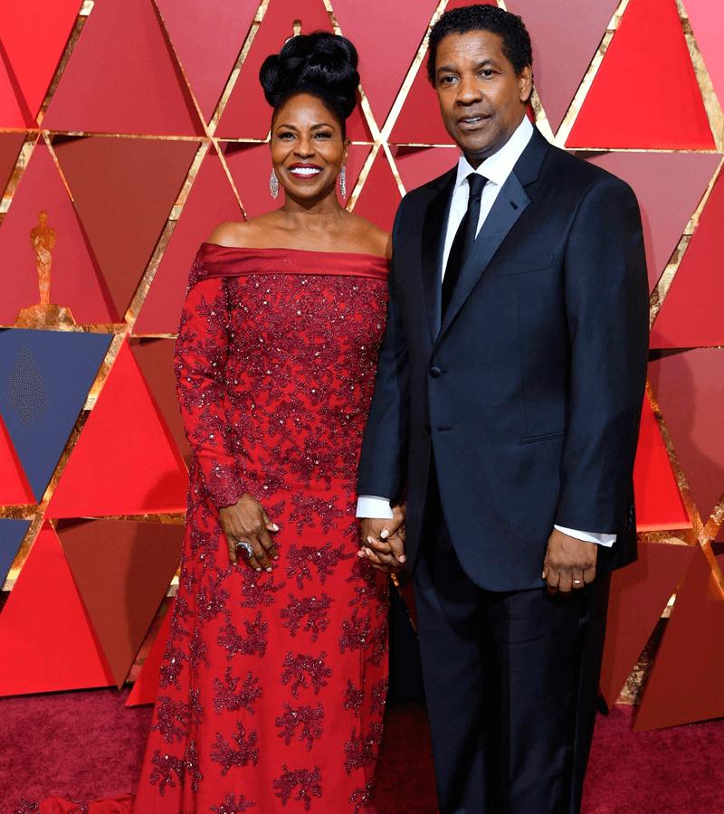 Denzel Washington y su mujer Pauletta