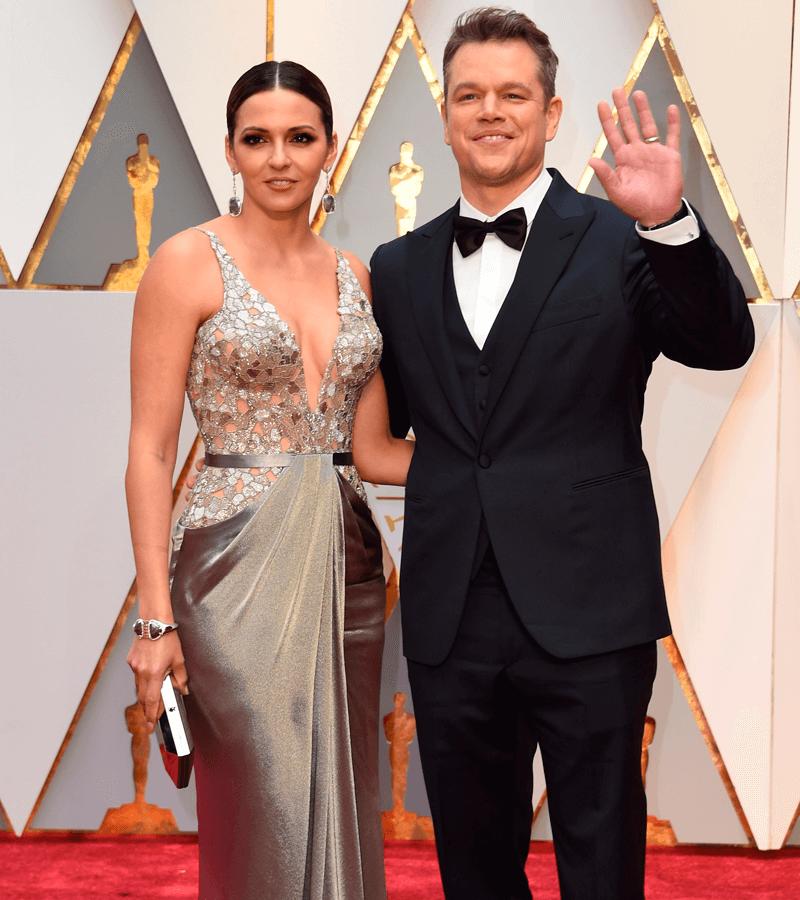 Matt Damon y su mujer Luciana Barroso