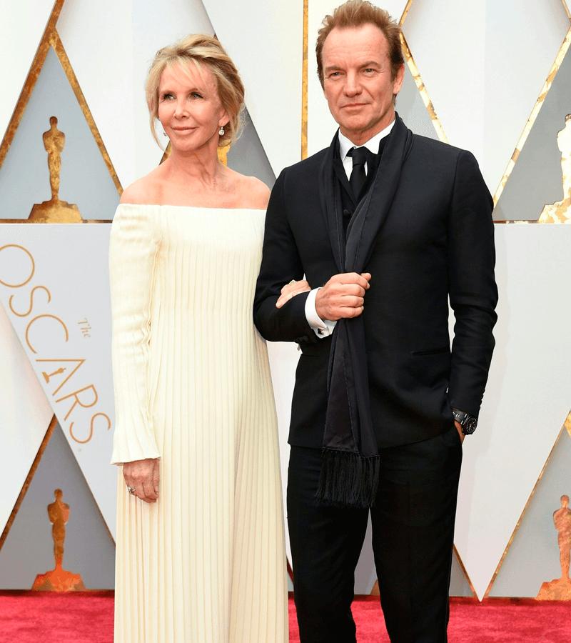 Sting y su mujer Trudie Styler