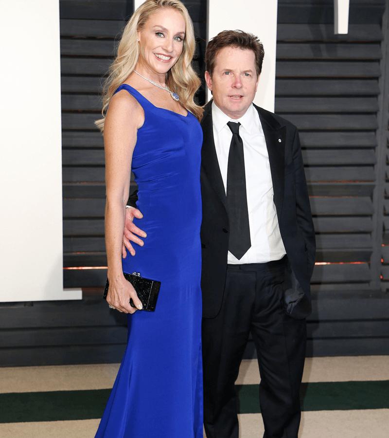 Michael J. Fox y Tracy Pollan