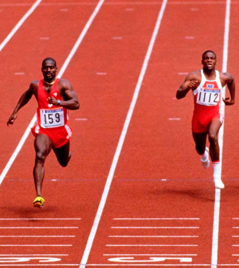 Ben Johnson sorprendió al mundo con su potente salida en los 100 m de Seul 88. Después se descubrió que se había dopado.