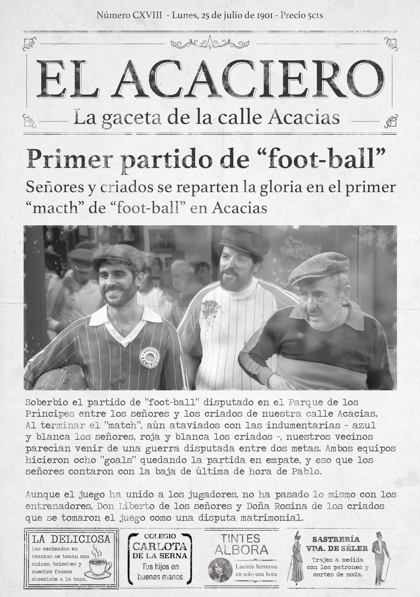 La crónica del primer partido de fútbol disputado en Acacias