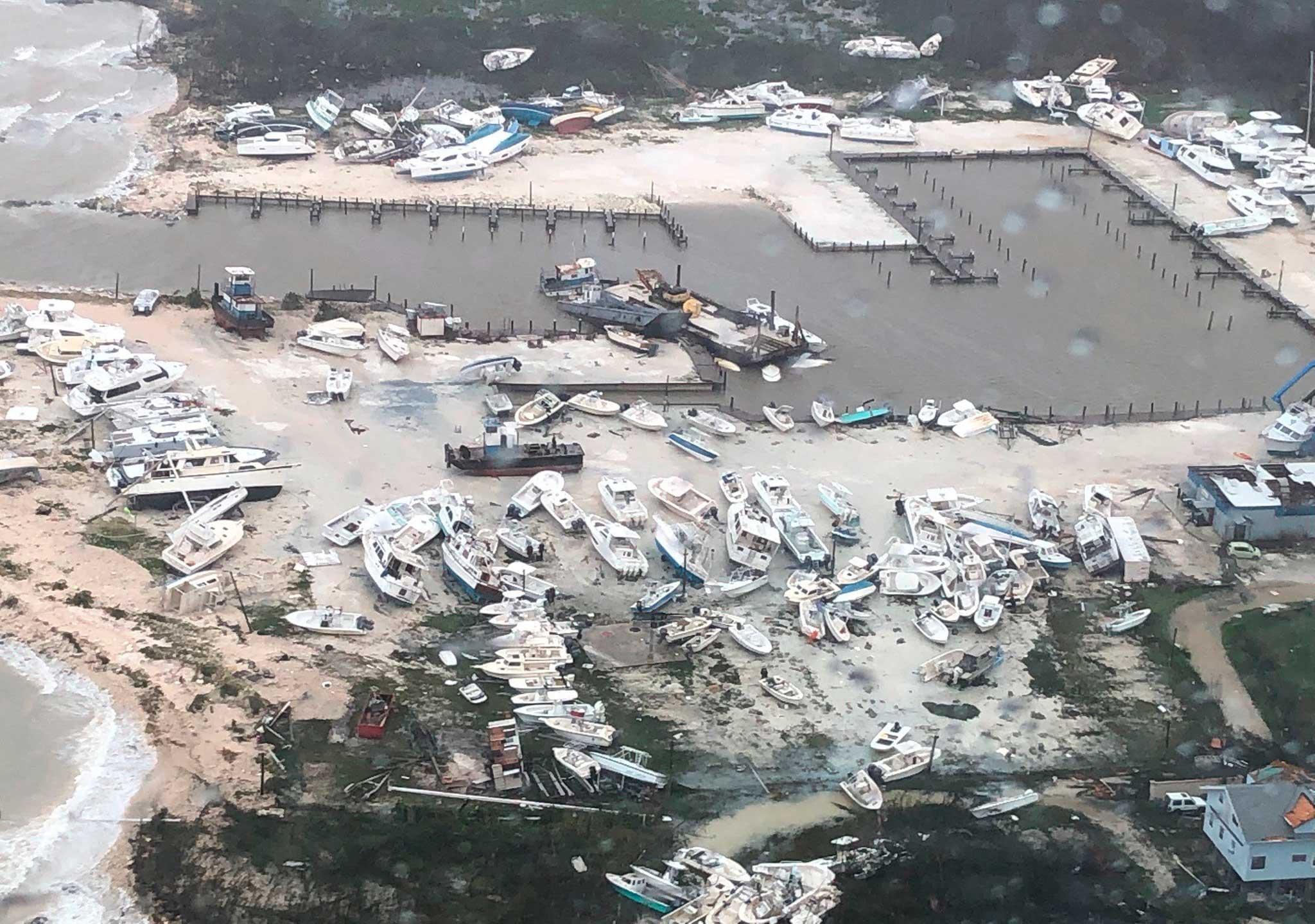 Primeras imágenes de la devastación